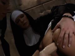 Nun lesbians asses toyed