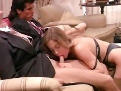 Moana Pozzi Double Blowjob in Eccitazione fatale (1992)
