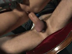 kinky blonde is fucked by a guy after untying him