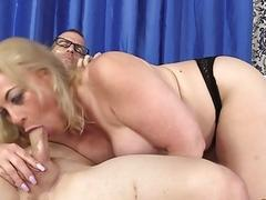 Thick Blonde Grandma Summer Sucks Mean Dick and Fucks Like a Banchee