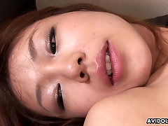 Solo cutie in lingerie rubs her Japanese cunt