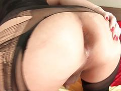 Big round ass ladyboy blowjob and anal