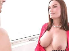 Busty stepmom Diamond Foxx hot threesome