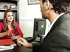 Office hottie Tori Black boned in stockings