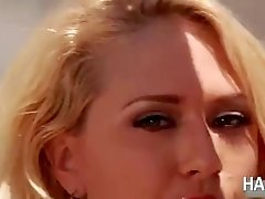 Hot blonde Kagney Linn Karter gets pounded hard in the ass by Yahshuas black cock