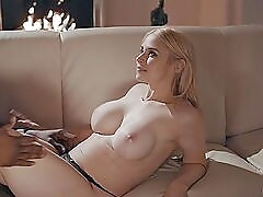 Sarah Vandella goes down on a big black cock