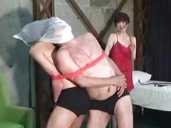 Sadistic Japanese mistress has fun with her masochist slaves BDSM