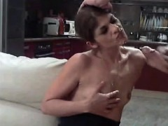 Skinny slut does anal and cumshot