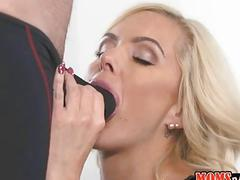 She licking my clit while kissing her man