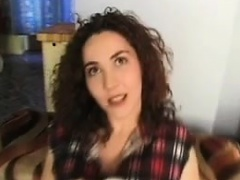 Masturbation porn video with fisting and kinky blowjob