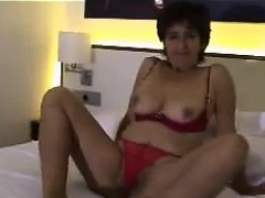 Latin Grandma Playing Alone With Her Pussy