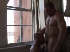 Sexy dudes Chad Brock and Ed Hunter fuck in abandon building