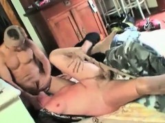 Rough threesome with nasty granny