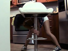 Teenage stepsis Penny Nichols gets fucked in the kitchen