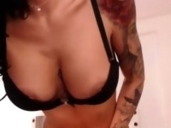 Excited Brunette Rubbing Her Pussy Until She Squirts Hard