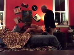 Kinky husband watches his hot wife enjoying a big black cock