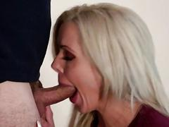 Big tits blonde milf fucked and facialed