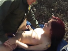 Caught latina gets railed