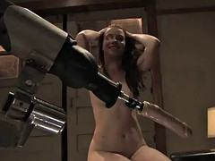 a pleasuring fuck with a machines for a hot brunette