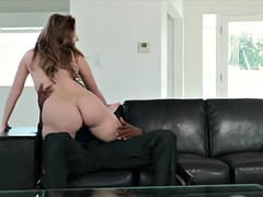 Harley jade fucked by big black cock on the couch