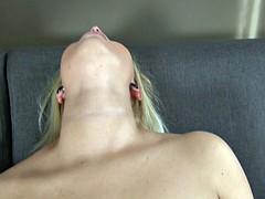 Netherlands blonde with small tits rides his cock
