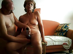 homemade, grandma and granddad in a very hot clip