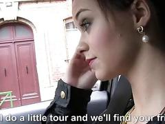 French amateur gal Lea banged in the car