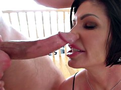 oiled up mom shay fox gets her throat roughly fucked