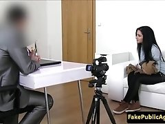 European amateur cocksucks agent at audition
