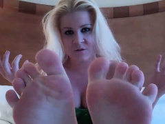 Get your big cock rock hard for my perfect feet