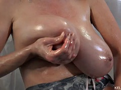 big oily tits in pantyhose