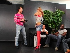 Kinky scenes with sweethearts fucking in a group