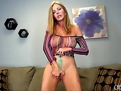 Busty Amber Michaels Solo