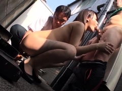 Delightful Asian girl with a divine ass is a sucker for cock