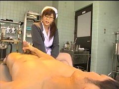 Big breasted Japanese nurse gets her fiery pussy fucked deep