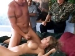 Lustful guy fully enjoys watching his busty wife getting pounded hard