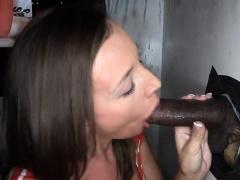 Nice-looking sweetheart gives a salacious blowjob experience