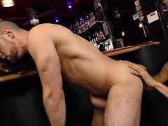 black guys sharing a bartender in a pub