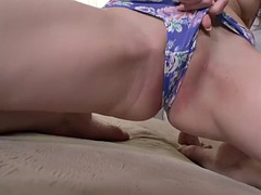 racy russian girl angelin joy stretches her juicy ass with dildo