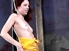 Sexy hot girl in solo bondage action BDSM fetish porn