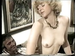 Milky-Skinned Vintage Lady Squats On Fleshy Hard Pecker
