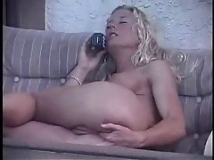 blonde assfingering at phone