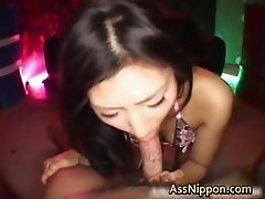 Steamy real asian doll has a huge part4