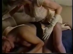 Tranny and couple have kinky threesome on couch