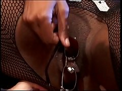 White on black interracial scene with bad black mama
