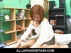 Ai Aito Lovely Asian teen shows off her juicy snatch