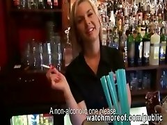 Pretty euro chick fucked for cash while working at the coffee shop