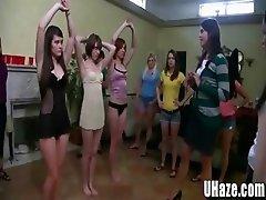 College Freshmen Learn Lez Munching Techniques