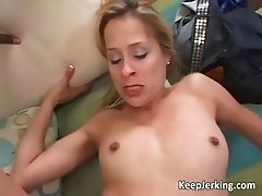 Blonde cougar fucked by big black rod