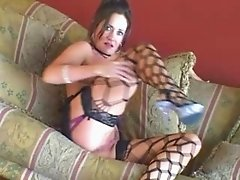 ALEXA LEE Mature Mom in Stockings taking a big cock